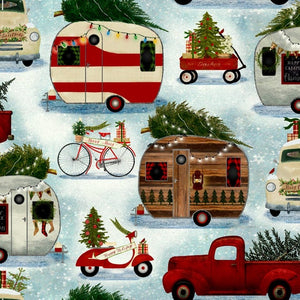 Quilter's Palette - Christmas Campers - Christmas on the Go - 1/2 YARD CUT