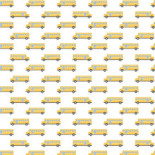 Load image into Gallery viewer, Camelot - Teachers Rule - School Bus - 1/2 YARD CUT