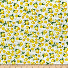 Load image into Gallery viewer, Timeless Treasures - Lemons - Cream - 1/2 YARD CUT