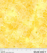 Load image into Gallery viewer, P&B Textiles - Flower Texture - Yellow - 1/2 YARD CUT