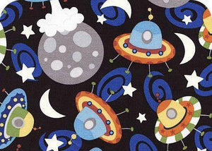 Camelot - Outer Space - GLOW IN THE DARK - 1/2 YARD CUT - Dreaming of the Sea Fabrics