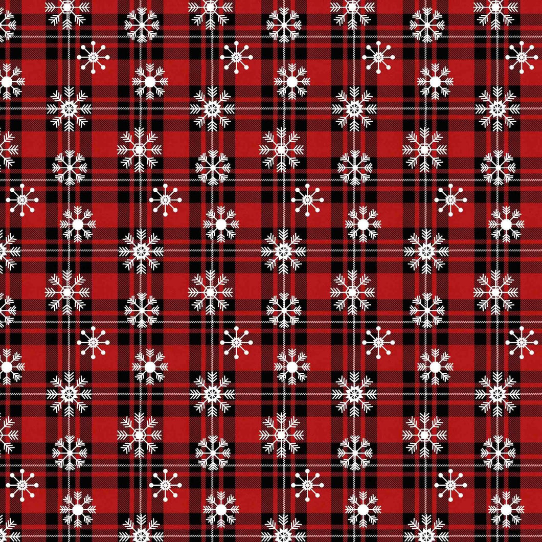 Springs Creative - Over the River Snowflake Plaid - 1/2 YARD CUT