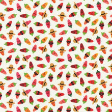 Load image into Gallery viewer, Robert Kaufman - Chili Smiles - Peppers Ivory - 1/2 YARD CUT