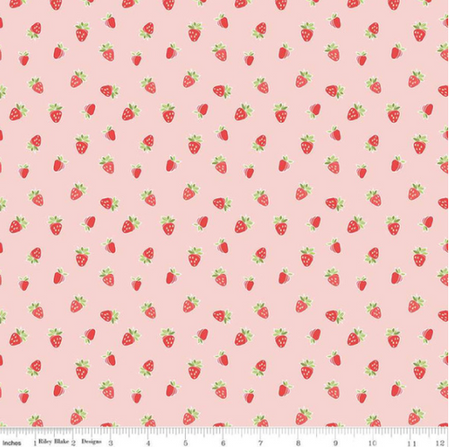 riley blake strawberry honey pink fabric