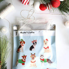 "Load image into Gallery viewer, Christmas Dogs Polymailers 10""x13"" Qty 38"