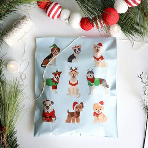 "Christmas Dogs Polymailers 10""x13"" Qty 38"