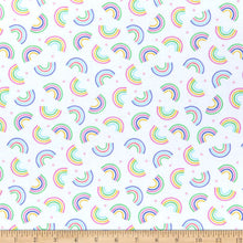 Load image into Gallery viewer, Timeless Treasures - Rainbows - White - 1/2 YARD CUT