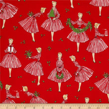 Load image into Gallery viewer, Michael Miller - Holiday Hostess - Red - 1/2 YARD CUT