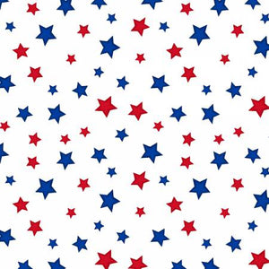 Wilmington Prints -  Red, White, and Blue - Stars - 1/2 YARD CUT