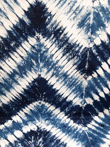 Boundless Fabrics - Indigo Tie Dye Batik - 1/2 YARD CUT - Dreaming of the Sea Fabrics