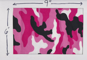 Quilting Treasures - Pink and Black Camouflage - 1/2 YARD CUT