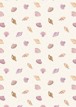 Load image into Gallery viewer, Lewis & Irene - Small Things by the Sea - Cream Shells - 1/2 YARD CUT