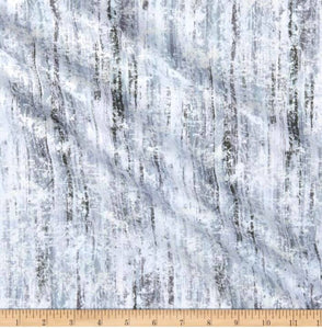 Henry Glass & Co Pearl Luxe II - Silver 1/2 YARD CUT