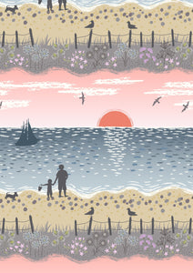 Lewis & Irene - Studland Beach - Sunset - 1/2 YARD CUT