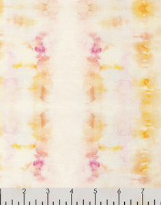 yellow pink white watercolor wet on wet sunset stripe summer lovin dear Stella fabric