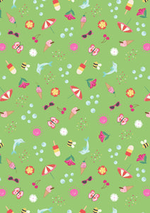 Lewis & Irene - Summer - Zingy Green - 1/2 YARD CUT