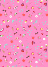 Load image into Gallery viewer, Lewis & Irene - Summer - Tropical Pink - 1/2 YARD CUT