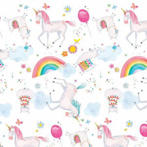 FLANNEL - Unicorn Party - 1/2 YARD CUT