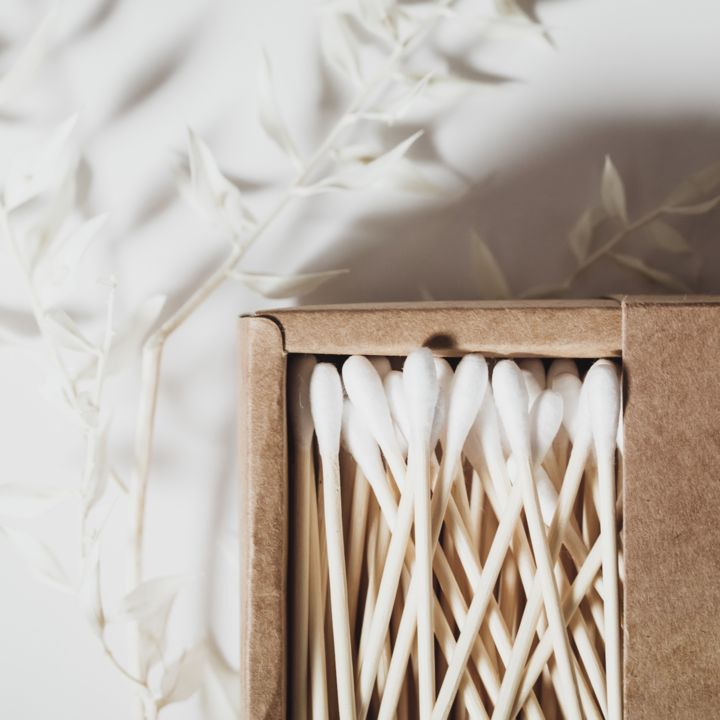 These organic bamboo cotton buds from Zero Waste MVMT are made from sustainably sourced bamboo.