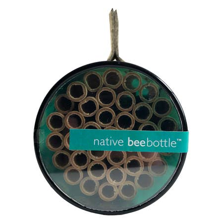 The Native Bee Bottle offers a home for non-hive friendly pollinators