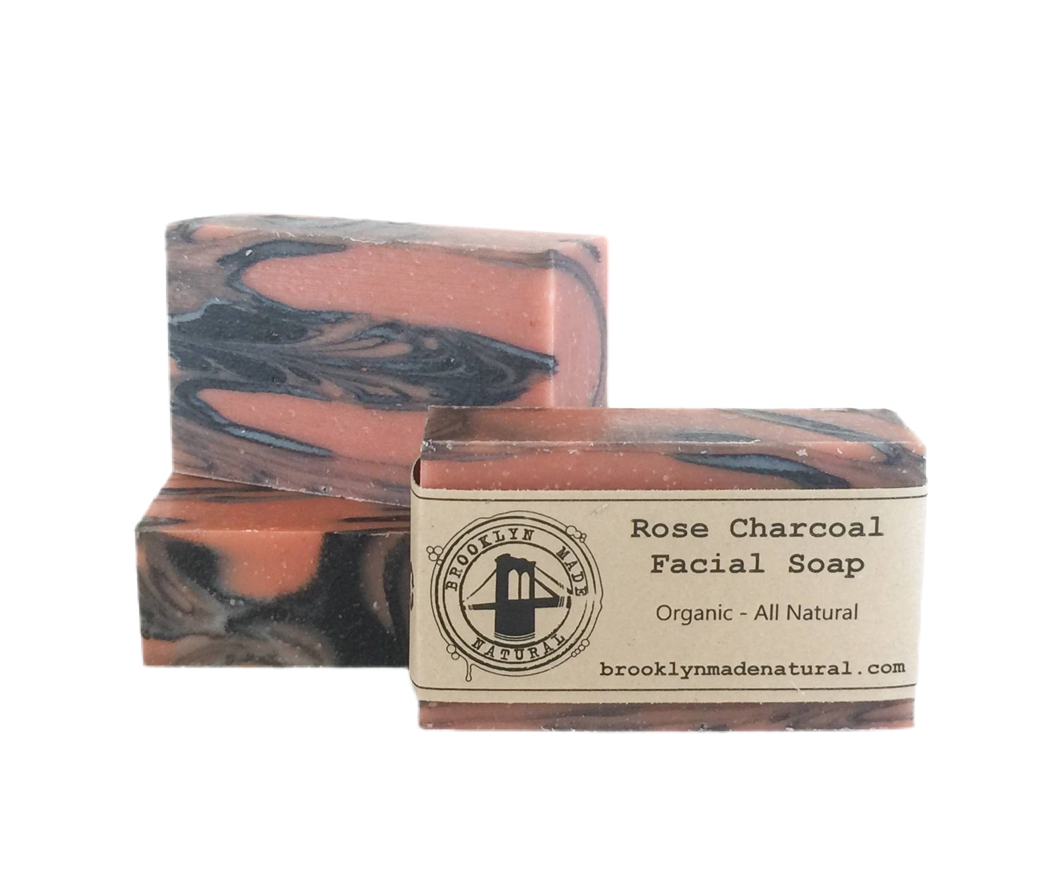 Rose Charcoal Facial Soap - Organic