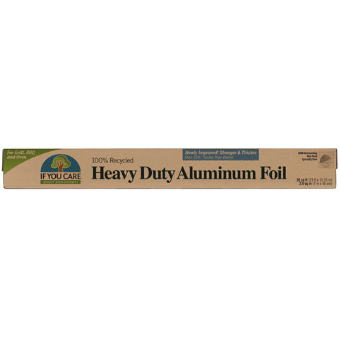 If You Care Aluminum Foil is made with 100% recycled aluminum. It's a perfect eco-friendly addition to your kitchen.