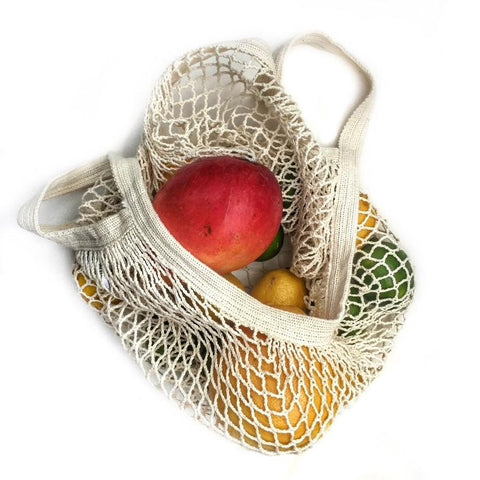 This eco-friendly French Market Tote String Bag seemingly small bag stretches and expands to accommodate almost anything you put in it, from fruits and veggies, to breads and flowers, and it'll last years and years
