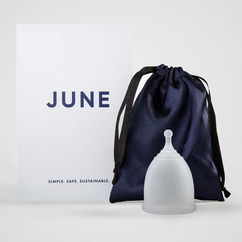 June: a menstrual cup that's better for your body and the planet, and thoughtfully designed to be simple, safe, and sustainable. Made of 100% medical-grade silicone, you don't have to worry about harsh chemicals or synthetic fibers getting into your body.