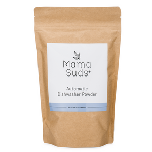 MamaSuds dishwasher detergent powder is made with safe ingredients, vegan, it's eco-friendly, it's 100% biodegradable