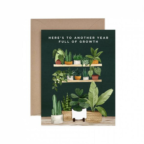 Sustainable greeting card—here's to another year full of growth.