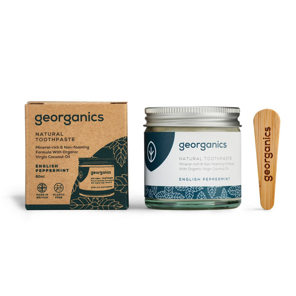 This natural toothpaste is blended with organic peppermint essential oil. Studies has shown peppermint oil to be extremely effective at killing anaerobic bacteria. A bacteria that thrives in a low oxygen environment such as the mouth and can cause gum disease. The fluoride free, SLS free, and glycerin free formulation is an ideal replacement to conventional toothpastes. Its mineral-rich, non-foaming formula promotes remineralization.