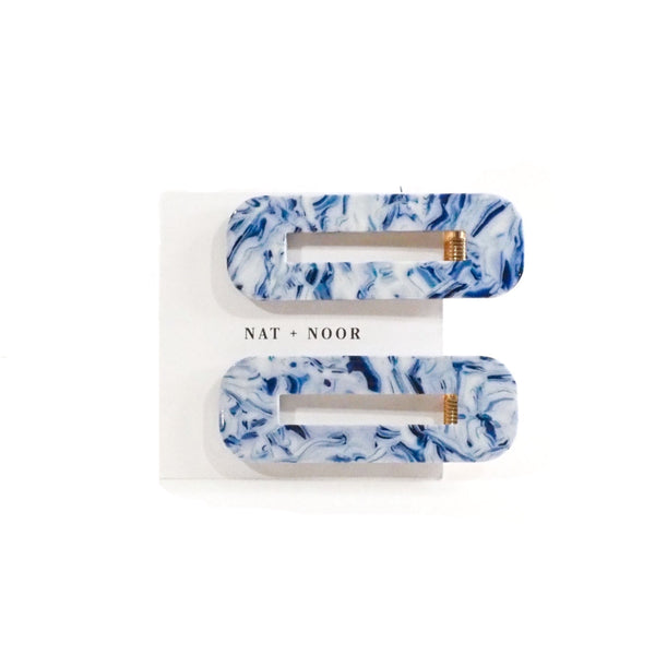 These gorgeous hair clips are made from cellulose acetate, which is a renewable resource made from wood pulp. You can say goodbye to petroleum-based plastic hair clips for these sustainable and beautifully designed ones.