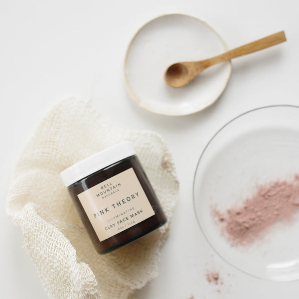 Treat yourself to a luxurious spa day at home with this natural, soothing mask. Pink Theory Clay Mask is formulated to create a gentle skin softening experience.