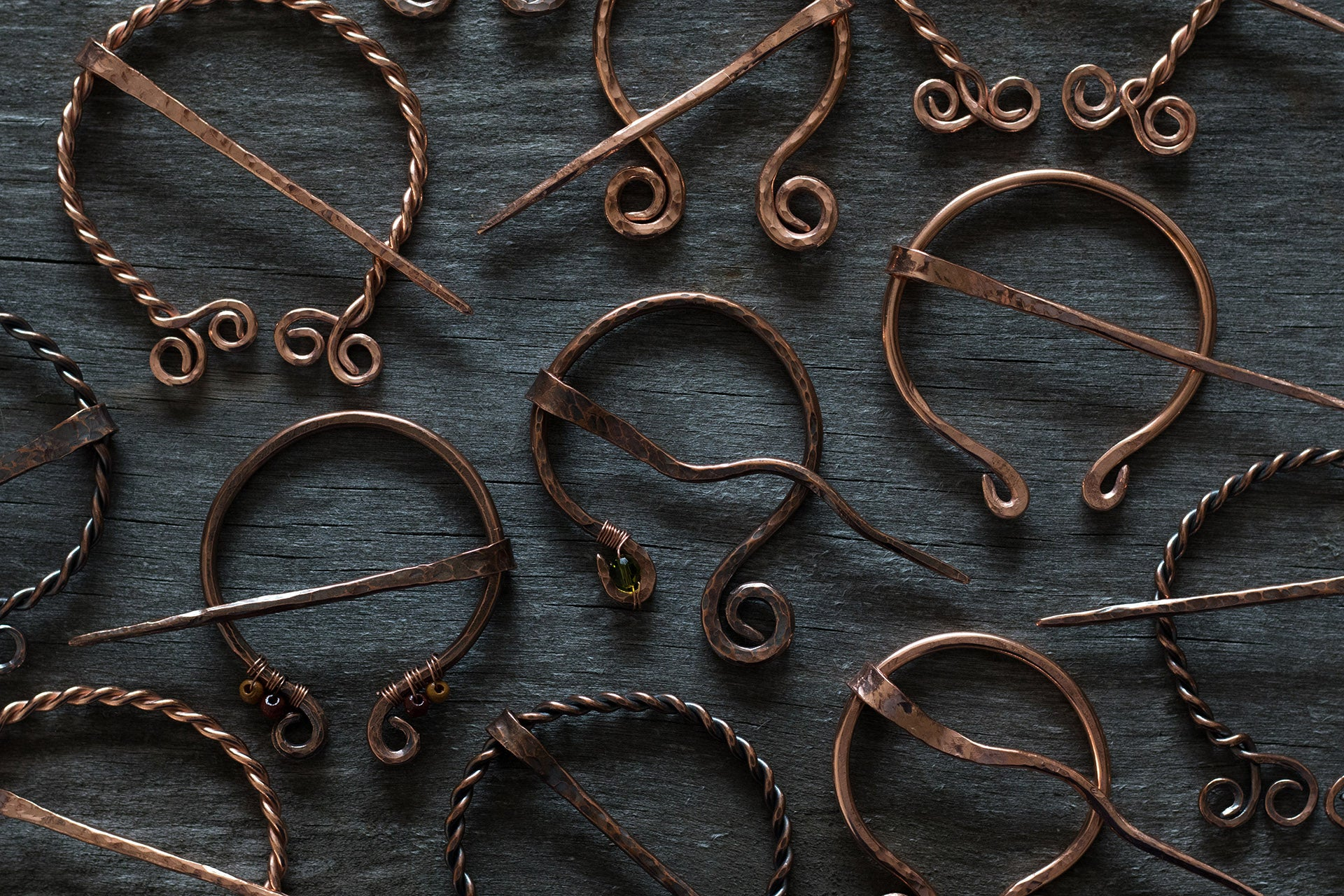 Celtic Copper Brooches