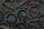 Load image into Gallery viewer, Celtic Copper Brooches