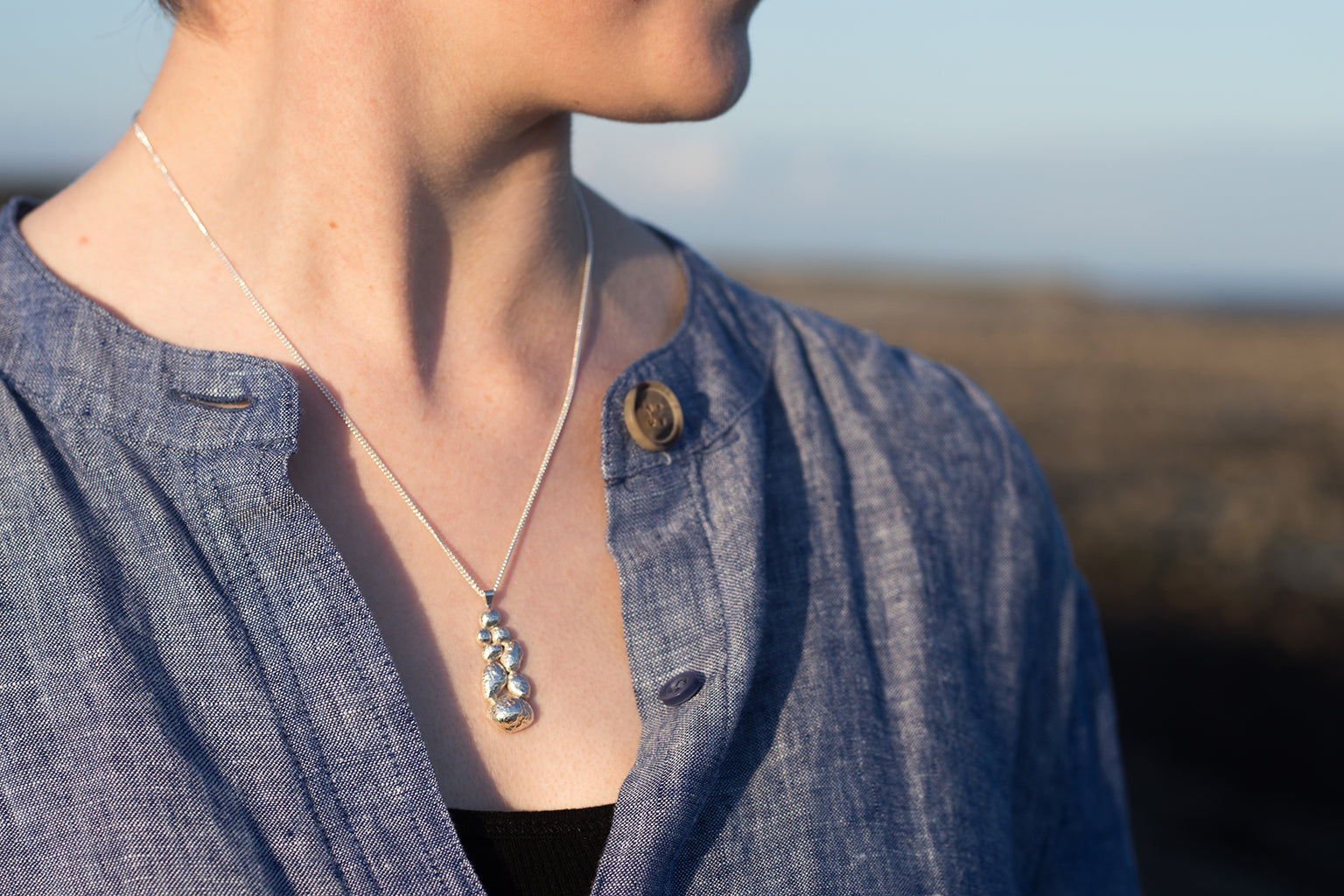 Rocky Hill Pendant Necklace