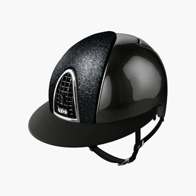 CASQUE CROMO SHINE NOIR/STAR BLACK VISERE POLO | KEP
