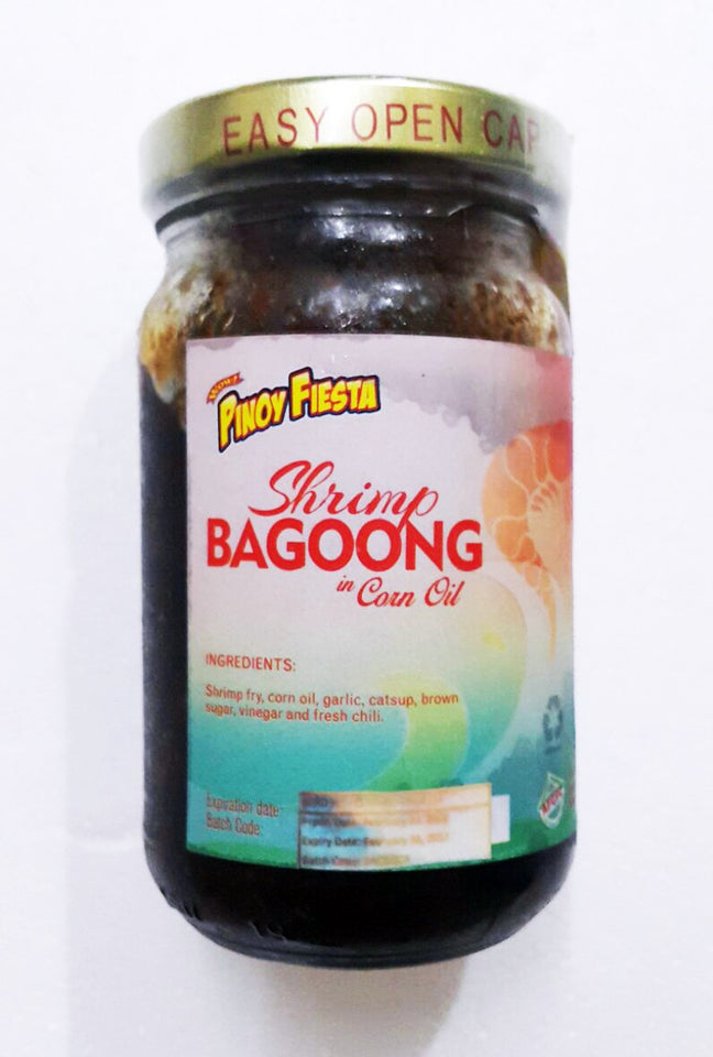 Pinoy Fiesta Shrimp Bagoong in Corn Oil (Bottle) - Mr. Gulay Online Store