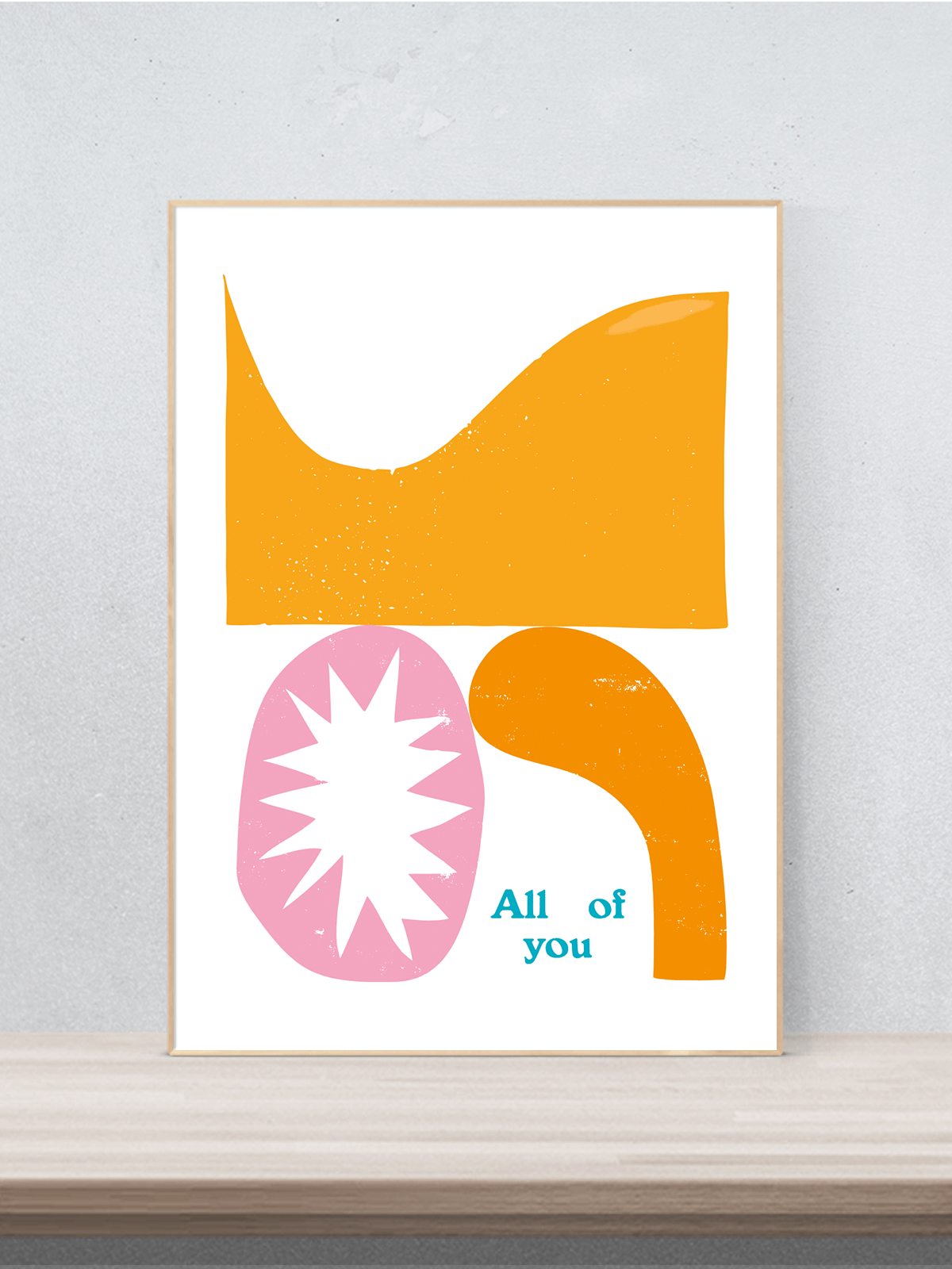 All of you, Digitaldruck signiert, modern, abstrakt, Poster, Druck