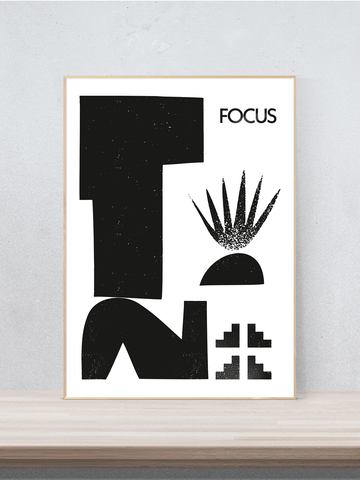 Focus, Digitaldruck signiert, modern, abstrakt, Poster, Druck