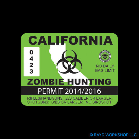 California Zombie Hunting Permit