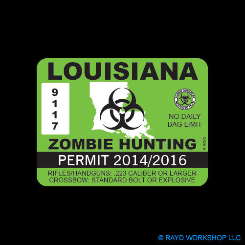 Louisiana Zombie Hunting Permit