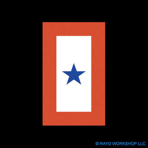 "4"" Blue Star Service Flag"