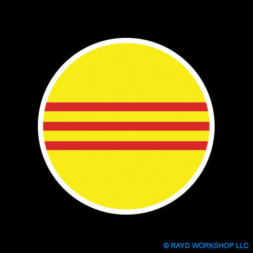Round South Vietnamese Flag