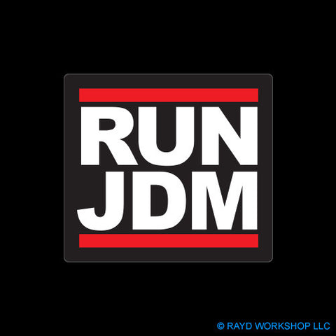 RUN JDM Self Adhesive Sticker