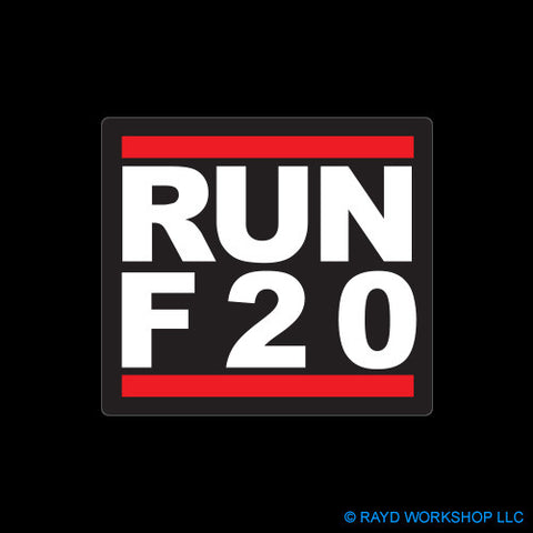 RUN F20 Self Adhesive Sticker
