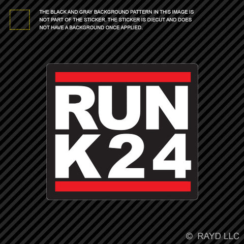 RUN K24 Self Adhesive Sticker