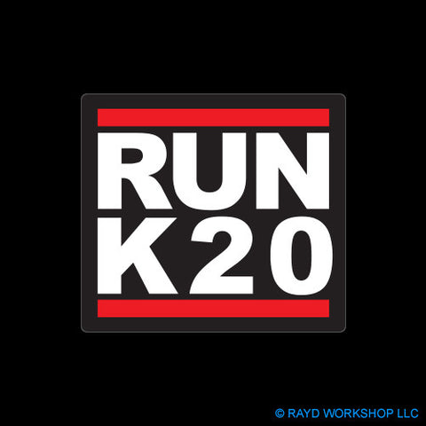 RUN K20 Self Adhesive Sticker
