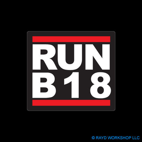 RUN B18 Self Adhesive Sticker