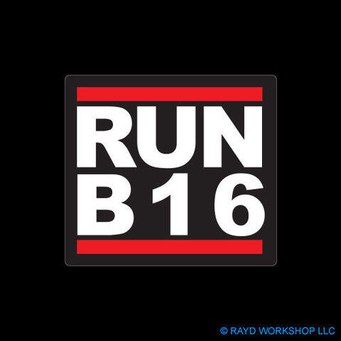 RUN B16 Self Adhesive Sticker